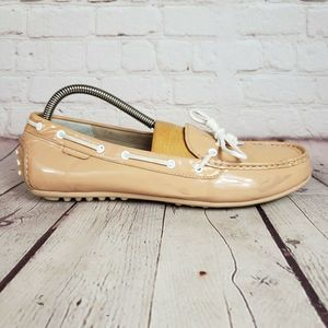 Cole Haan Patent Leather Boat Shoe Driving Loafers